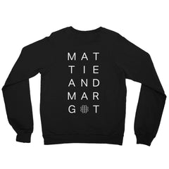 Unisex Front/Back Logo Fleece Raglan Sweatshirt - MATTIE + MARGOT
