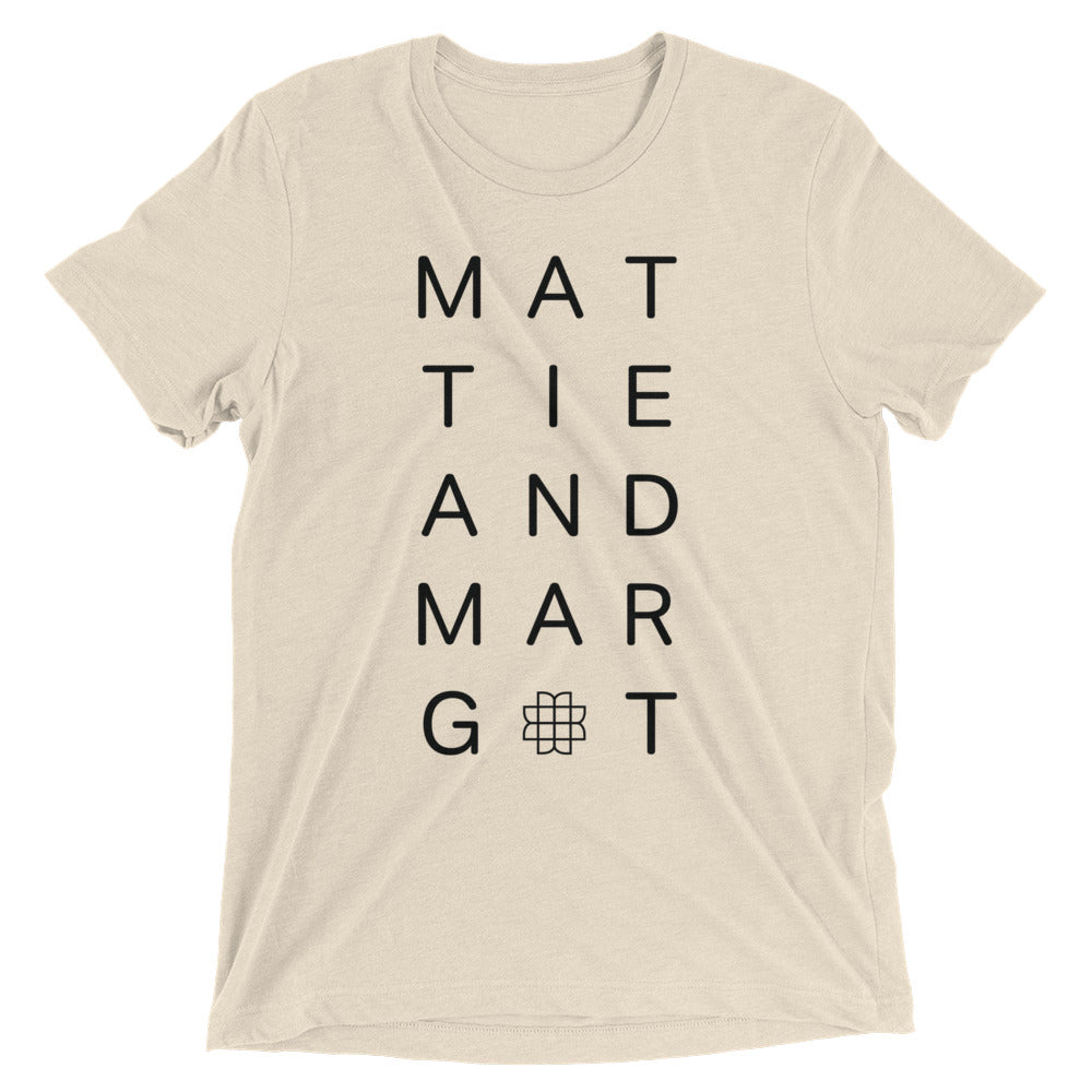 Unisex Logo Stack Tee - Oatmeal - MATTIE + MARGOT