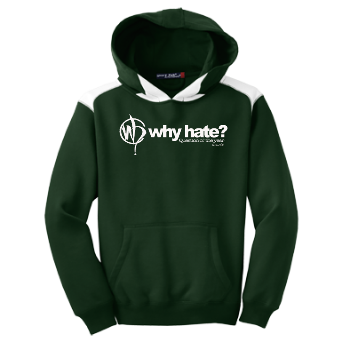 Why Hate? | Youth Colorblock Hoodie