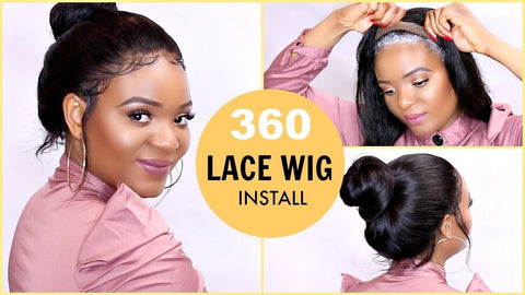 360 lace wig install