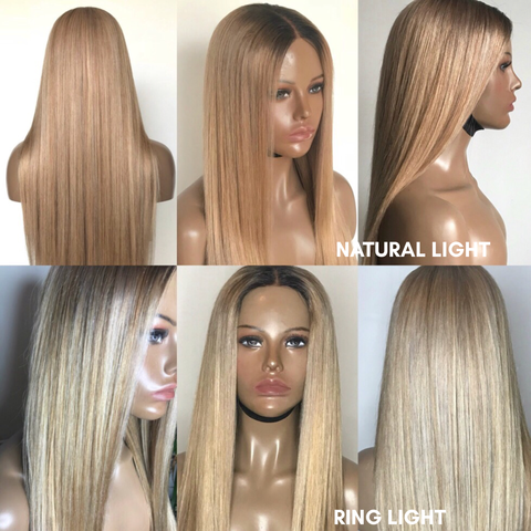 'Marilyn' - 100% Virgin Hair Blonde Lace Front Wig