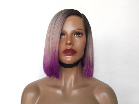 """Partition"" - 100% Virgin Dip Dye Wig"