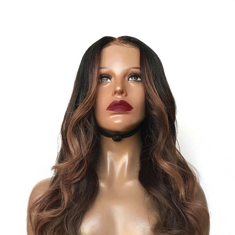 """Selina"" - 100% Virgin Highlighted Wig"