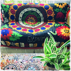 Suzani Vintage Hand-Embroidered Textiles for Boho-Chic Decor - Honorooroo Lifestyle