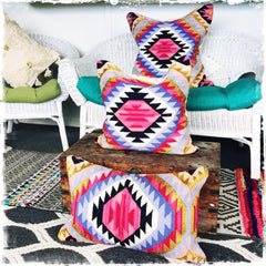 "All New ""Kilim-Inspired"" Pillow (Large/Square) - Honorooroo Lifestyle"