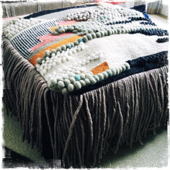 SOLD Pre-Order Available‼️Modern Wool Pouf Bohemian Fringe Floor Cushion - Honorooroo Lifestyle