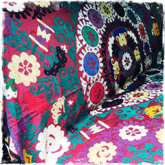 SOLD!  Suzani Vintage Hand-Embroidered Ethnic Tapestries - Honorooroo Lifestyle
