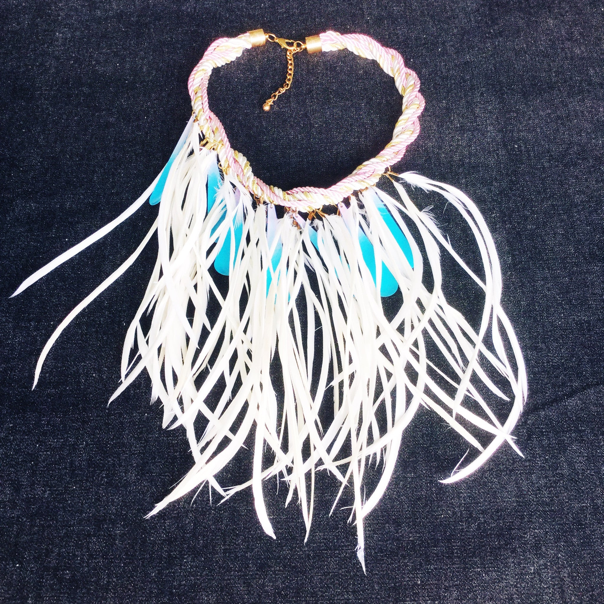 FEATHER BOA Rock-chic Necklaces - Honorooroo Lifestyle
