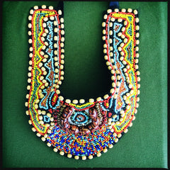 Wooden Beaded Statement Necklace - Honorooroo Lifestyle