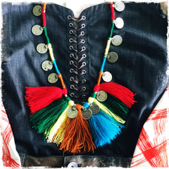 KUCHI COIN HAWAII| Tassel Fringe Necklace - Honorooroo Lifestyle