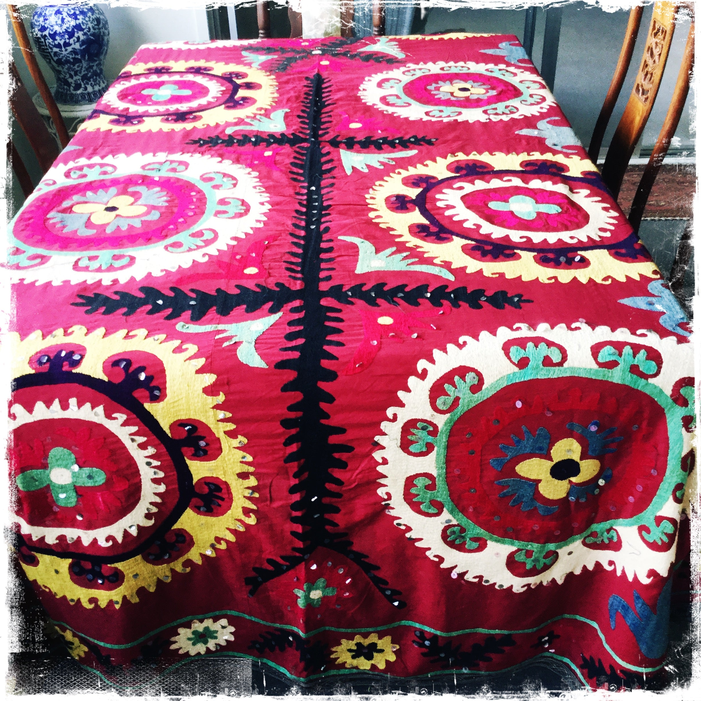 Suzani Vintage Hand-Embroidered Ethnic Tapestries and Throws - Honorooroo Lifestyle