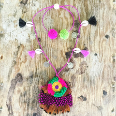 Boho Feather Necklace Honorooroo Handmade - Honorooroo Lifestyle