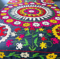 Suzani Boho-Chic Vintage Embroidery, Ethnic Wall Hangings - Honorooroo Lifestyle