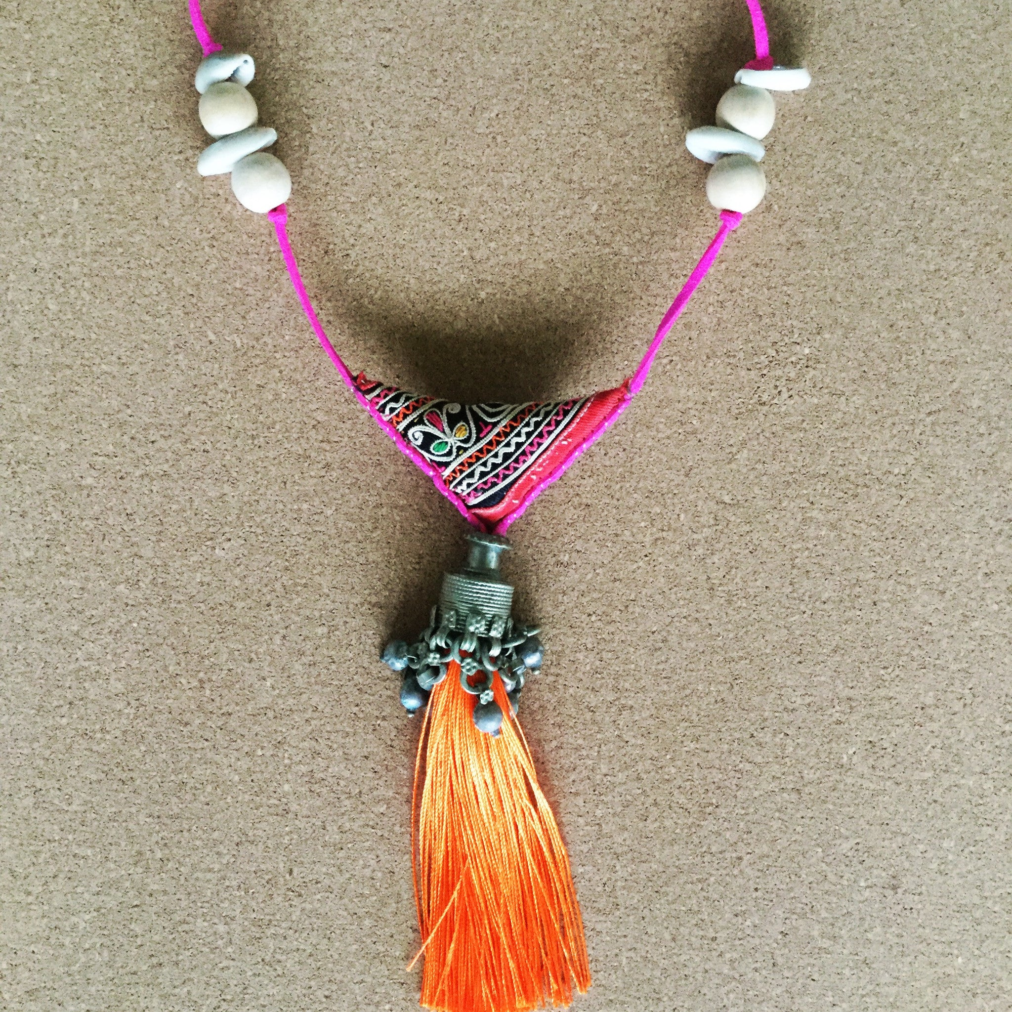 SOLD‼️Bohemian Tassel Handmade Necklace - Honorooroo Lifestyle