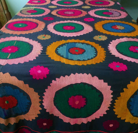 Suzani Textiles, Uzbek Wall Hangings, Ethnic and embroidered Tablecloths and Throws - Honorooroo Lifestyle