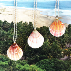 Sunrise Shell Necklaces| Hawaiian Sunrise/Moonrise Shell pendants |43,45 - Honorooroo Lifestyle