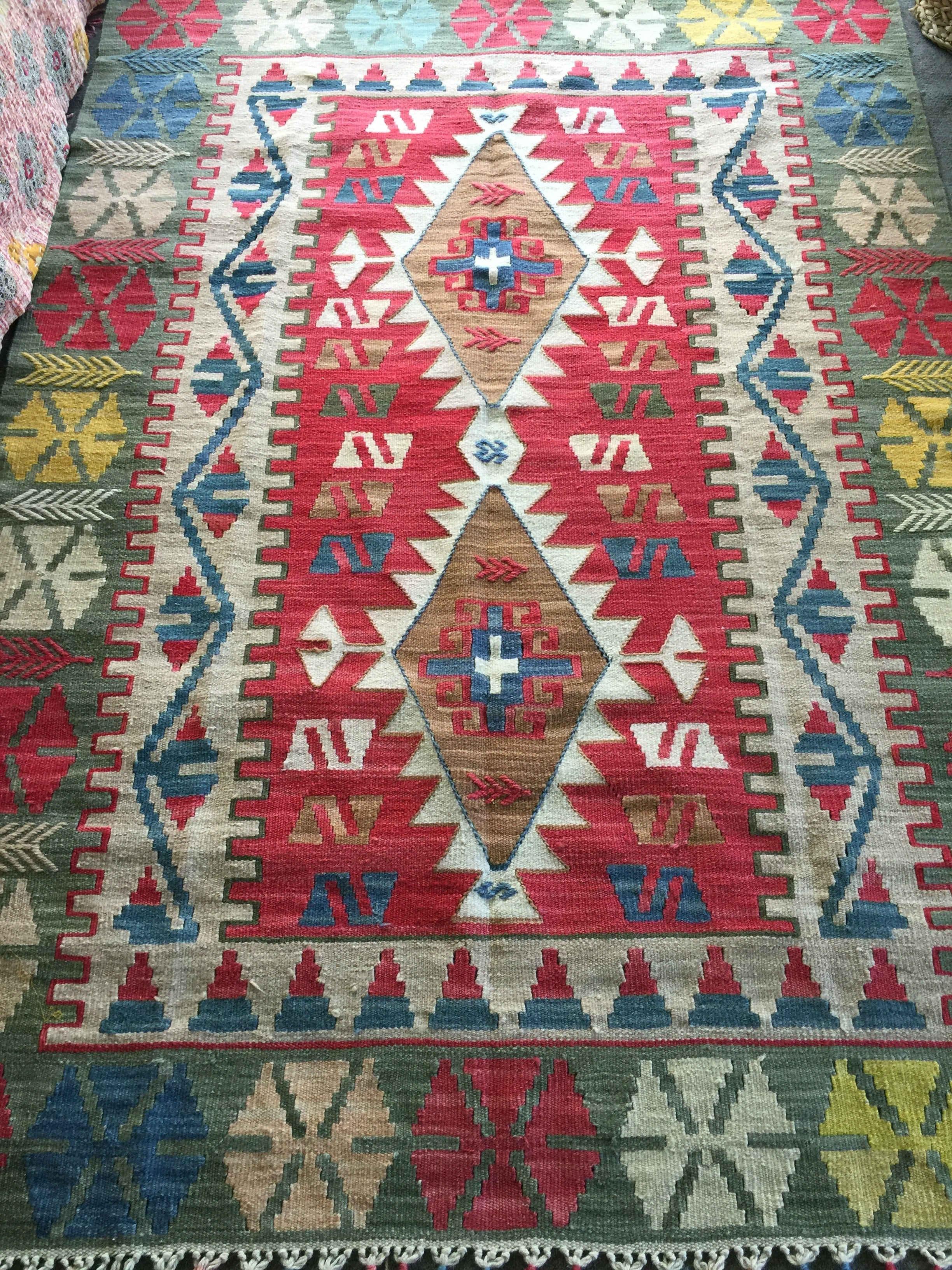SOLD OUT‼️TURKISH KILIM RUG| Harika|Vintage | One of a Kind| Boho Kilim|4' x 5.6'