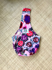 SUZANI SLING BAG|Embroidered Accessories|PINK ROSETTA