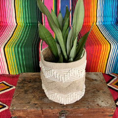 HAND WOVEN JUTE COTTON|  Baskets|Boho Storage |Bohemian Planter|