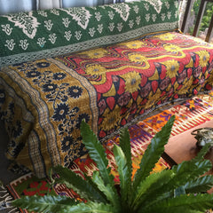 KANTHA QUILTS| Vintage throw| Blanket| Bedding|Twin|