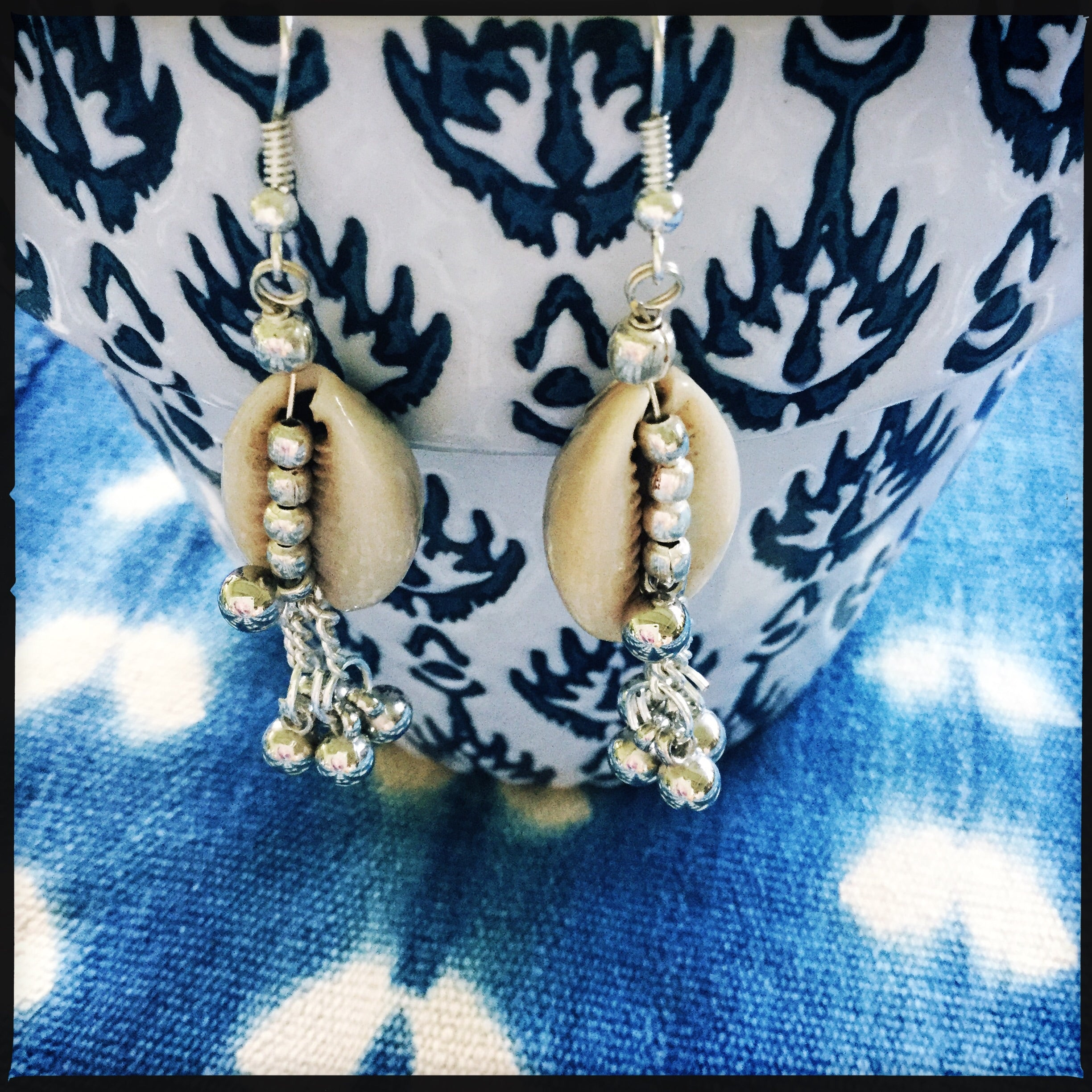 Cowry Shell Earrings| Boho gypsy style| Natural Shell Jewelry| - Honorooroo Lifestyle