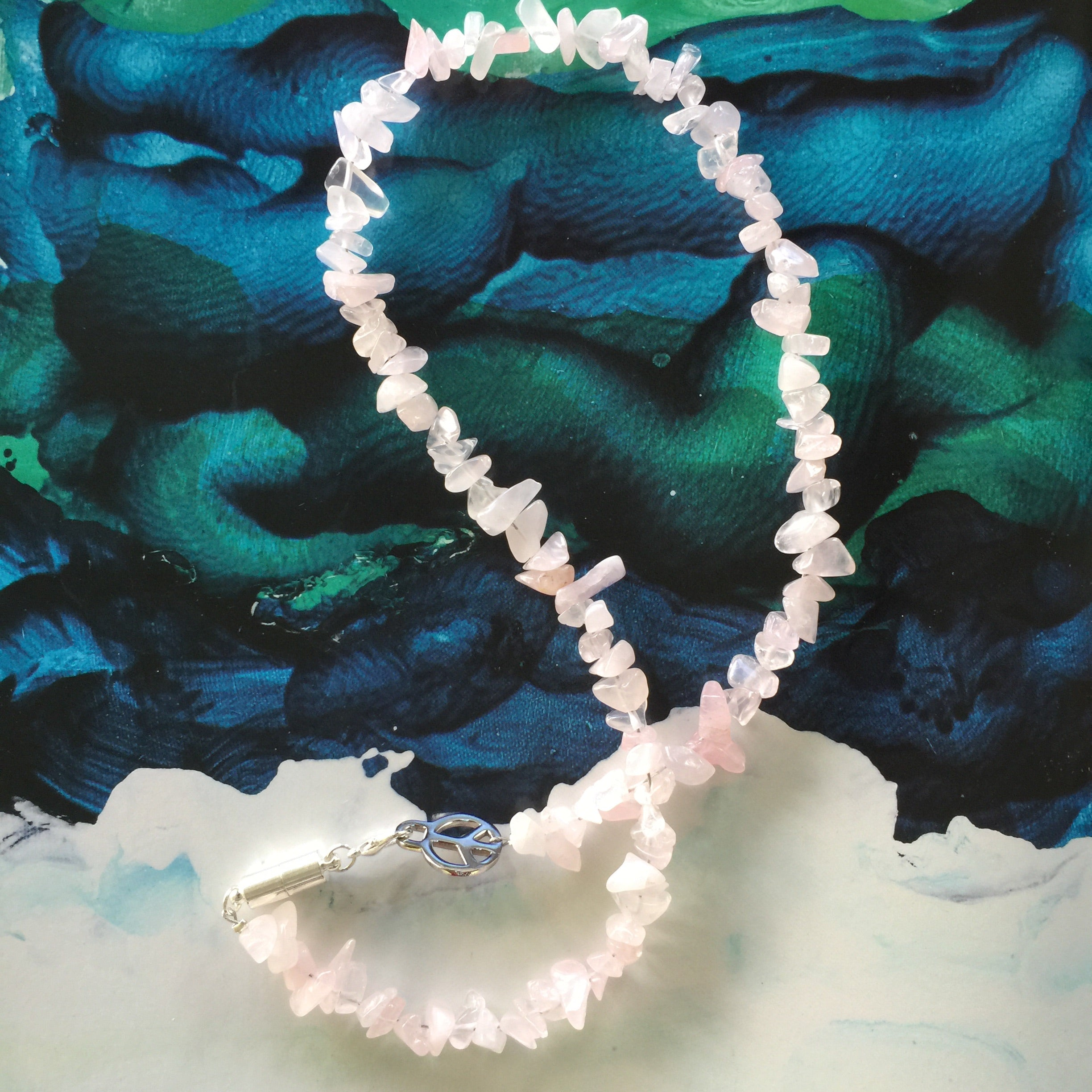 ROSE QUARTZ Crystal Chip Necklace| One of a Kind| - Honorooroo Lifestyle
