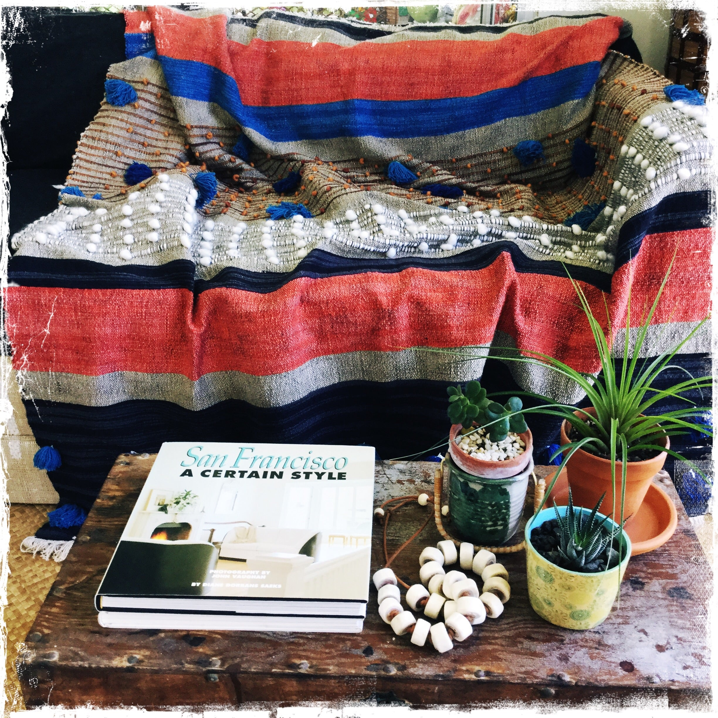 "All Cotton ""Frazzle Desert"" Throw FREE SHIPPING IN USA - Honorooroo Lifestyle"