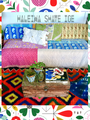 SOLD OUT‼️KANTHA QUILTS| Vintage throw| Blanket| Bedding|Twin|Haleiwa Shave Ice|
