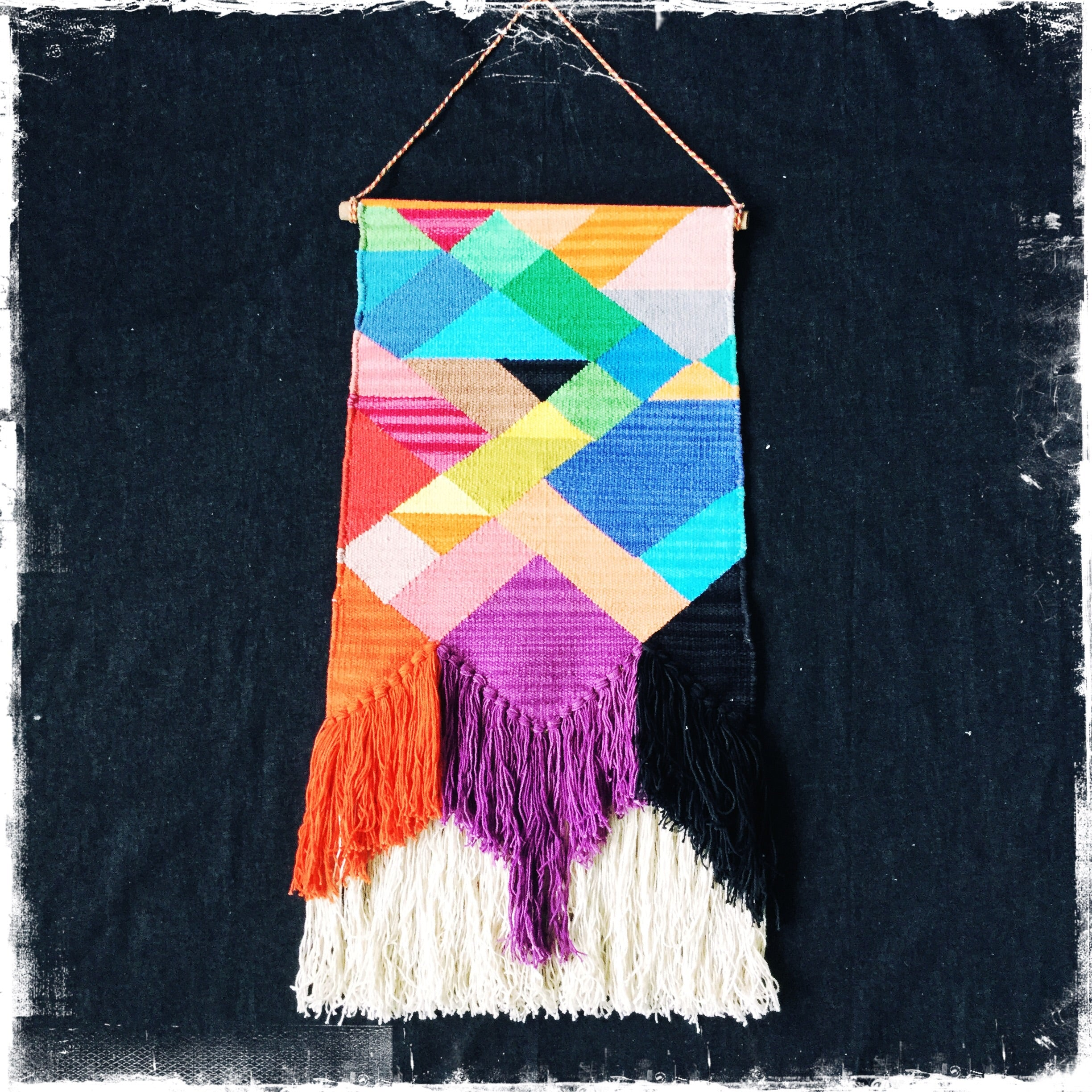 "A gorgeous ""Rainbow Geometric "" Wall Hanging FREE SHIPPING IN US - Honorooroo Lifestyle"