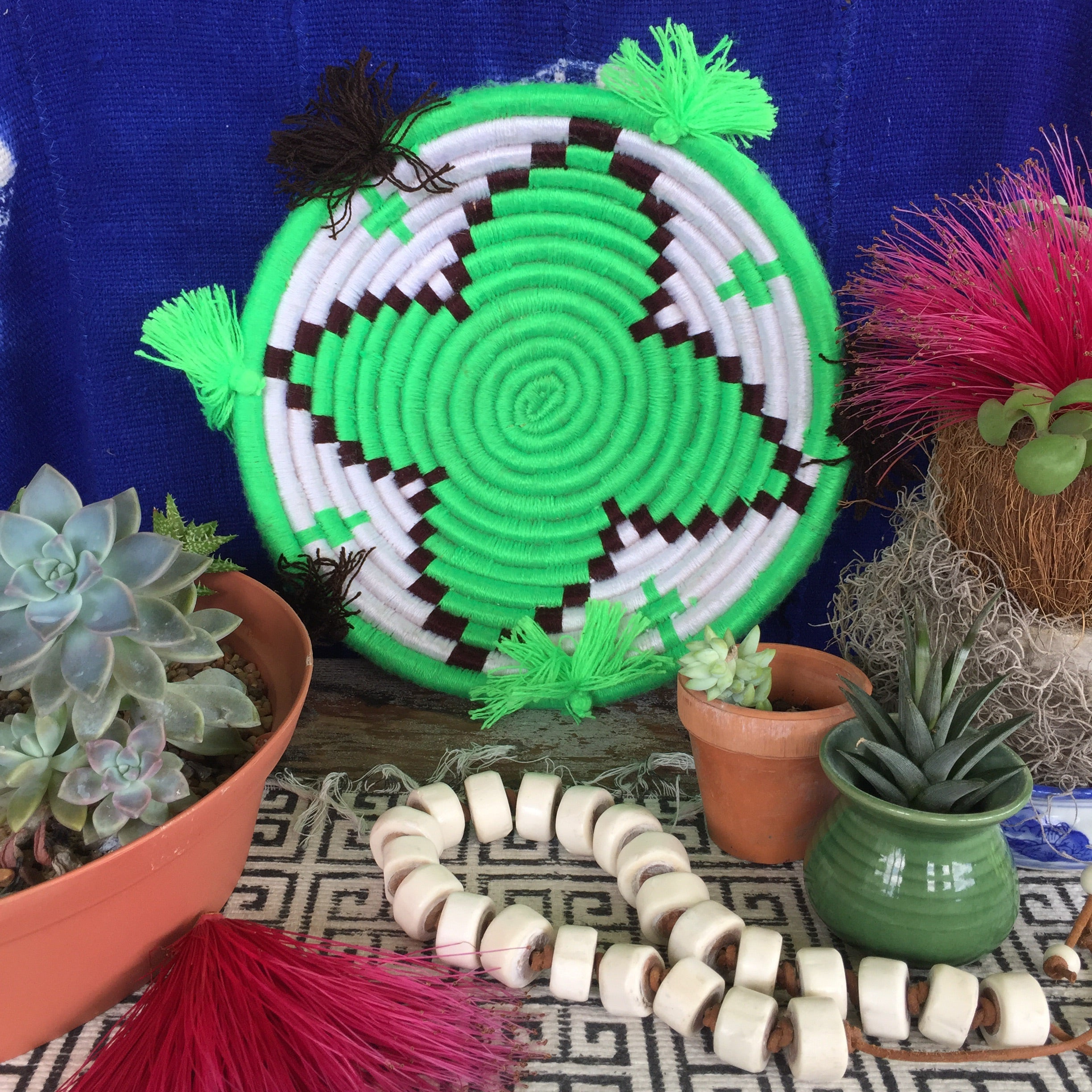 Moroccan Berber Plates | Decorative Basket| Centerpiece - Honorooroo Lifestyle