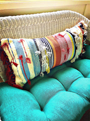 "All-New ""Mexican Fiesta"" Multicolored Lumbar Pillow Cover - Honorooroo Lifestyle"