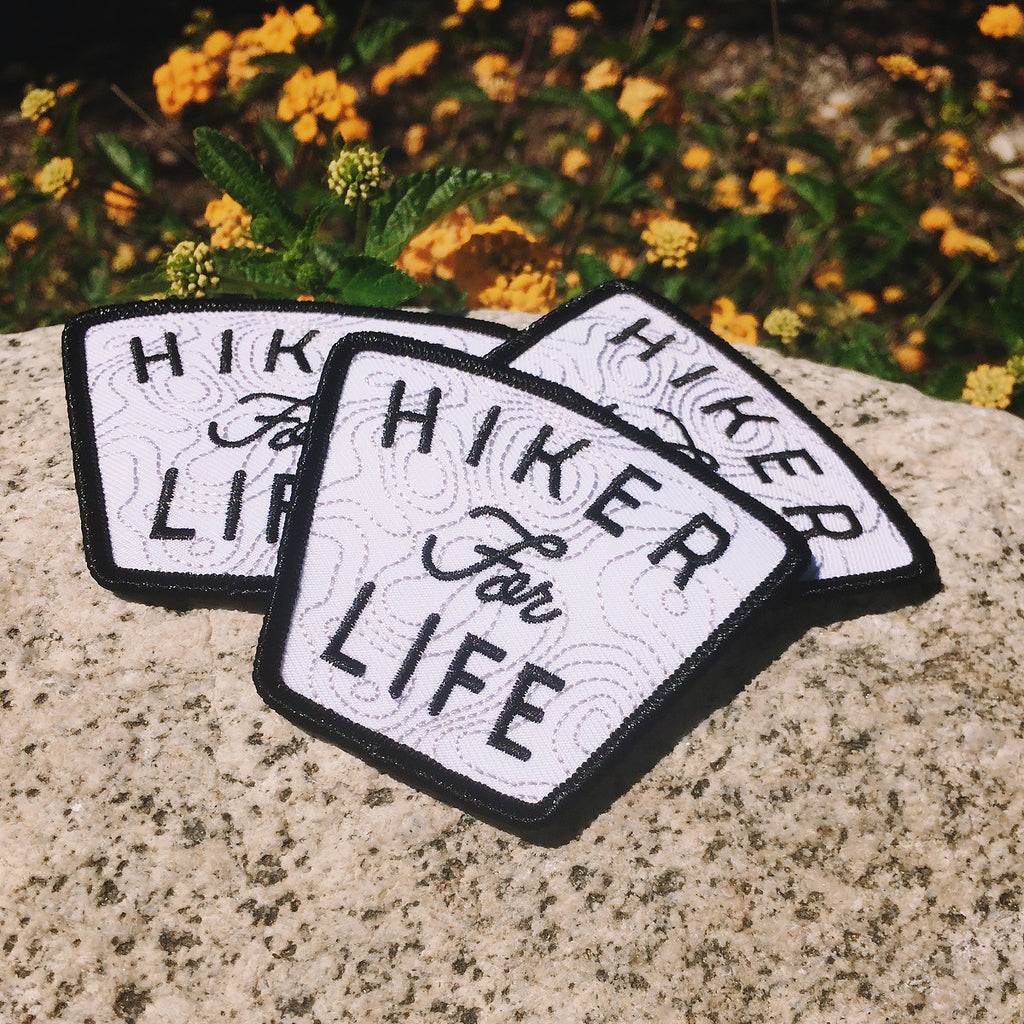 Hiker For Life Embroidered Patch