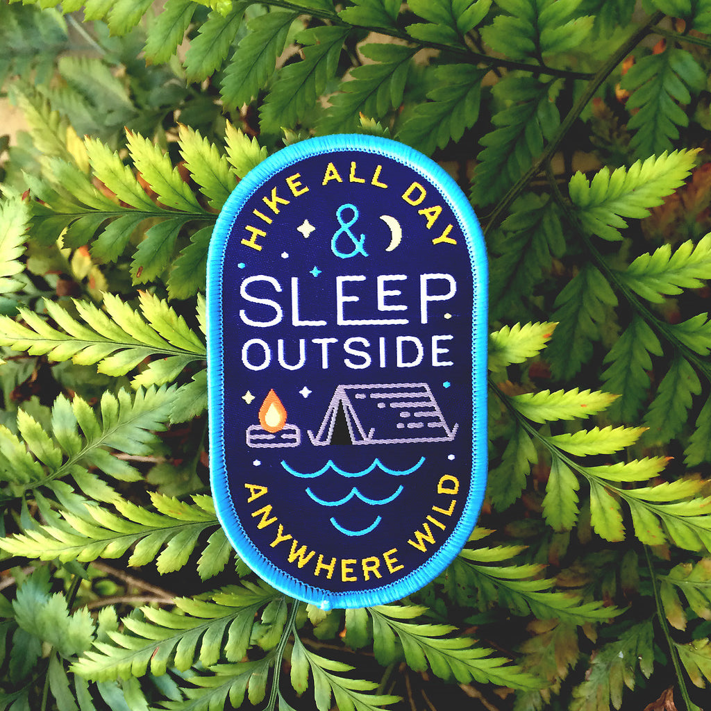 Sleep Outside Woven Patch