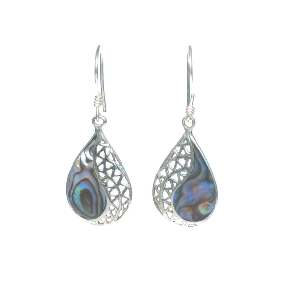 Pear Shaped Dangle Earring with Shell Detail - Multiple Colors Available - Pieces of Bali