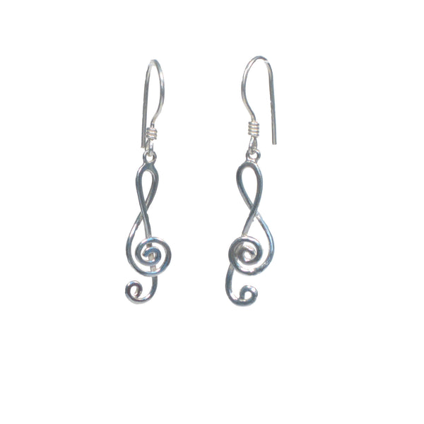 Treble Clef Dangle Earrings - Pieces of Bali