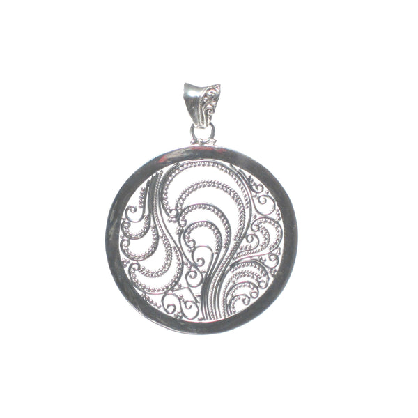 Filigree Circle Pendant - Pieces of Bali