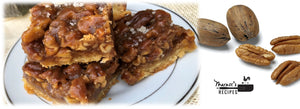 Square Pecan Pie (no corn syrup!)