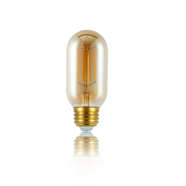 Set of 4 - Kashan T14 Amber LED Vintage Filament Light Bulb