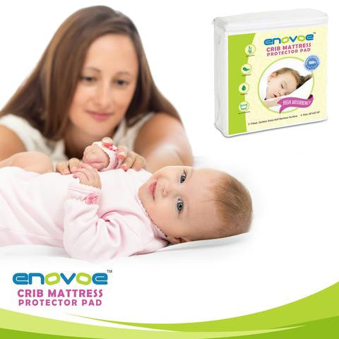 Newly Designed Waterproof Crib Mattress Pad to Keep Bed Clean