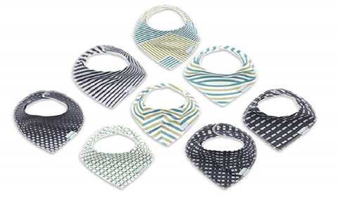 Baby Bandana Drool Bibs for Boys & Girls (8 Pack)