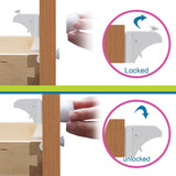 Enovoe Magnetic Child Safety Cabinet Locks - 12 Locks + 2 Keys