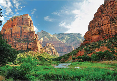 "Enovoe 1000 Piece Puzzle - Zion National Park - Large, 27"" x 20"", Jigsaw Puzzles for Adults and Kids"