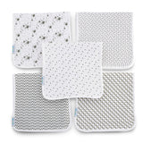 "Enovoe GOTS Certified Organic Baby Burp Cloths for Boys and Girls (5 pack) - 21"" x 10"""