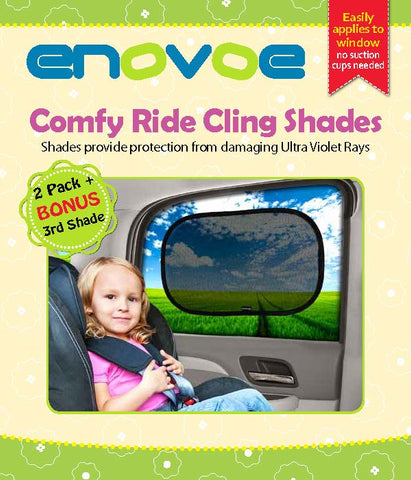 Car Window Shades for Baby (2 Pack) - Premium Baby Car Sun Shades are Best for Blocking Over 97 Percent of Harmful UV Rays - Size (48 x 30 Centimeters)