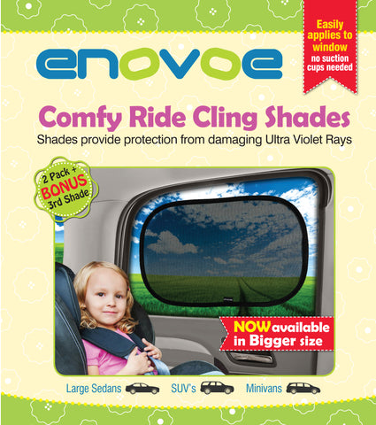 Car Sun Shades for Kids (2 Pack) for SUVs, MiniVans and Full-Size Sedans - Premium Car Window Shades for Baby are Best for Blocking Over 97 Percent of Harmful UV Rays - Large Size (53 x 35 Centimeters)