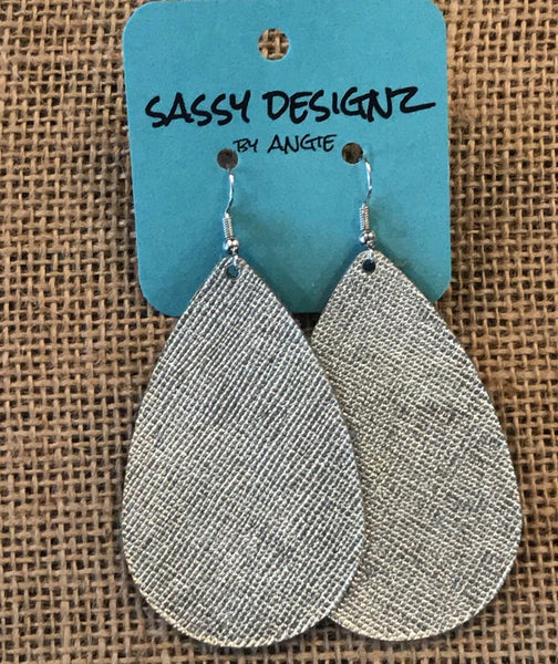 Sassy Designz Leather Earrings