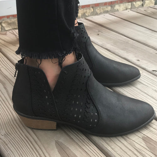 Black Casual Booties