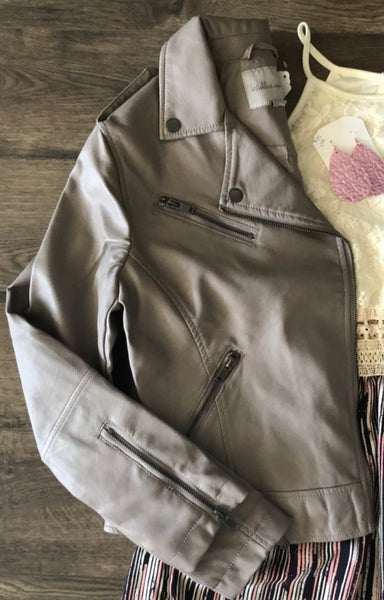 Stone Leather Jacket