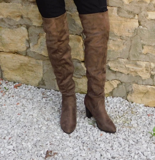 Brown Over Knee Boots