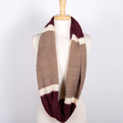 Color Block Infinity Scarf